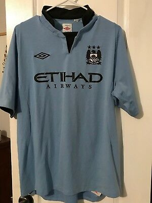f91259bd1 Umbro Manchester City Football Jersey Size Med Large-44-Soccer-Free Shipping