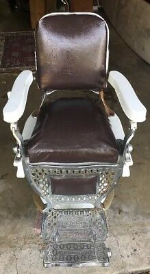 Theo A Kochs Barber Chair Chicago Pennsylvania Local Pick Up Only
