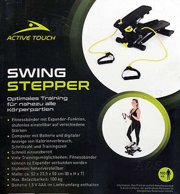 Active Touch Swing Stepper Computer Swingstepper Fitnessband Höhenverstellbar