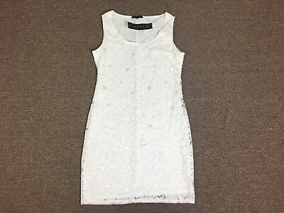 Nwt Womens Tiana B White Fitted Floral Lace Off The