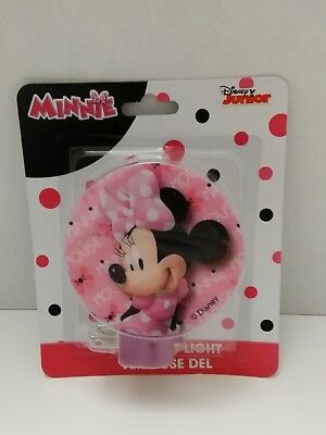 Disney Minnie Mouse In Pink Polka Dots LED Night Light - New- Free Shipping