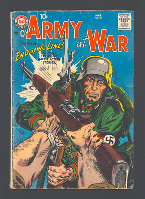 "OUR ARMY AT WAR #68 and #79 ""1958/59"". Issue #68 Good 2.0. Issue #79 VG+ 4.5."
