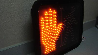 LOT OF 2-  GE LED Walk/Dont Walk Crosswalk Signs retired traffic control signs