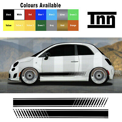 Abarth Fiat 500 595 Punto Spider Side Stripes Graphic Decal Sticker Livery Badge