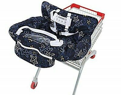 2in1 Cart Seat Shopping Cover Chair Baby Safety High Belt Cushion Grocery Mat