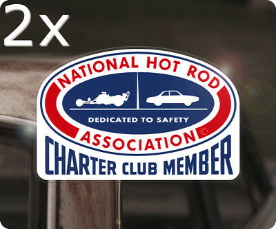 2x Stück NHRA Charter Club Member Aufkleber Sticker Autocollante Hot Rod USA