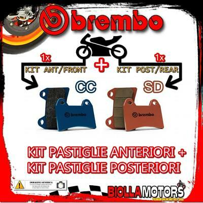 Brpads-18839 Kit Pastiglie Freno Brembo Ktm Smc 2005- 660Cc [Cc+Sd] Ant + Post