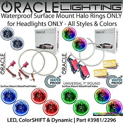"""ORACLE Universal Surface Mount Halo Rings for 7"""" Round Headlights *All Colors"""