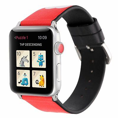 Love Couple Genuine Leather Bracelet Watch Band For Apple Watch 38/42mm 40/44mm