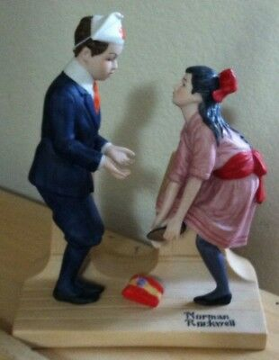 "The 12 Norman Rockwell ""First Dance"" The Danbury Mint Porcelain Figurine 1980"