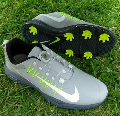 sports shoes 597a1 89294 9 MENS Nike Lunar Command 2 BOA Golf Shoes Wolf Grey White volt 888552-005
