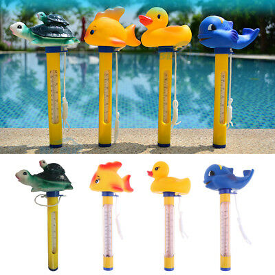 Durable Floating Swimming Pool Thermometer For Ponds Water Temp. Yellow