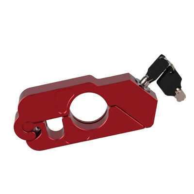 CNC Motorcycle Handle Throttle Grip Security Lock with 2 Keys Red
