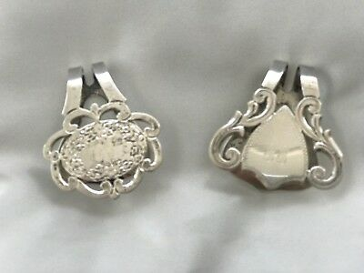 Vintage International Sterling Silver Napkin Clips Holders
