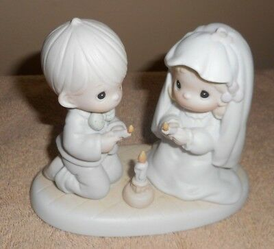 """Precious Moments""""The Lord Is Your Light To Happiness""""Figurine,1988- #520837"""
