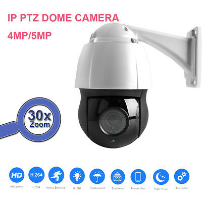 """4.5"""" HD 4MP 5MP PTZ IP Camera Outdoor Network Onvif Speed Dome 30XZoom Lens CCTV"""