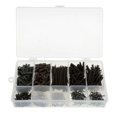 450pcs Safety Lead Clips, Swivels, Maggots Clips, Sleeves,Fishing Tackle Set