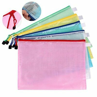 10 A4 Zipper File Folder Mesh Document Bags Separate Storage Pouch,carry easily