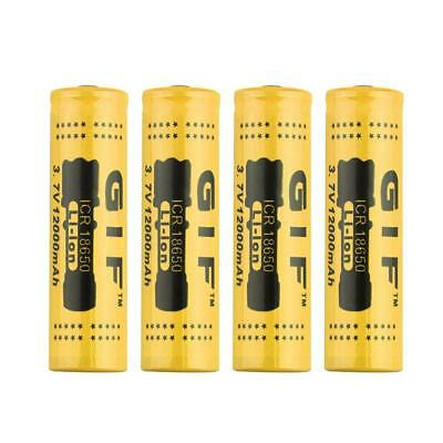 4PC 18650 3.7V/12000mAh Rechargeable Li-ion Battery for LED Torch Flashlight  ZH