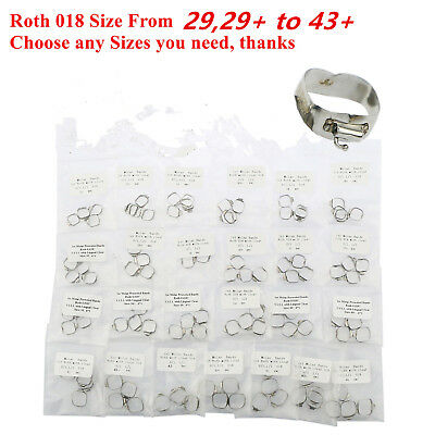 Dental Orthodontic Roth 018 1st Molar Buccal Tube Prewelded Bands Size 29 to 43+
