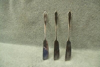 Butter Spreader Lot of 3 GEORGIC 1938 Wm Rogers & Son  Silverplate Flatware