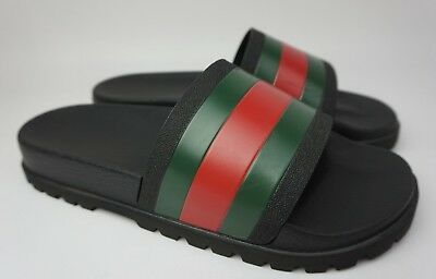de3eb557ac1e4 GUCCI PURSUIT 72 Slide Men s Black Spa Trek Sandals Size 9 G  10 US ...