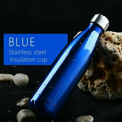 New 500ML Cola Style Vacuum Insulated Stainless Steel Water Bottle Outdoor