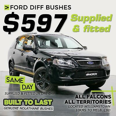 Ford diff bushes SUPPLIED & FITTED - only $597 - genuine Nolathane bushes used