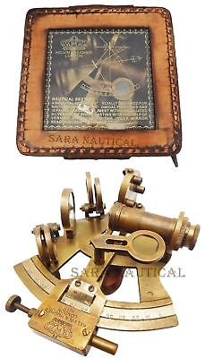 Nautical KELVIN & HUGHES Solid Brass Astrolabe Sextant Maritime Working Sextant