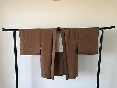 Vintage Japanese Silk Haori Jacket Hand Made One of a Kind Authentic Old Kyoto