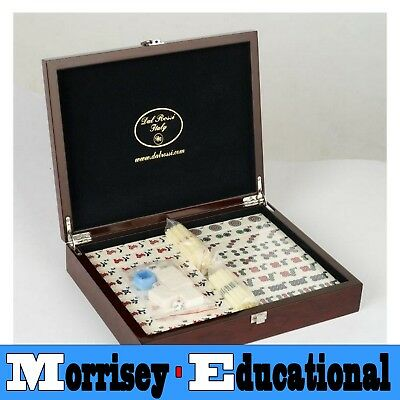 Dal Rossi Mahjong Set in Mahogany Finish Case - MORRISEY EDUCATIONAL
