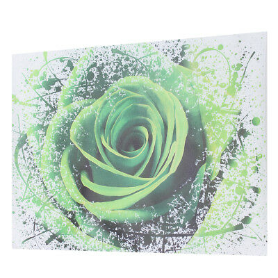 Modern Green Rose Flower Canvas Print Art Painting Picture Wall Decor Unframed