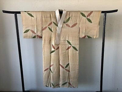 SALE Vintage Old Japanese Silk Kimono Hand Made One of a Kind Authentic