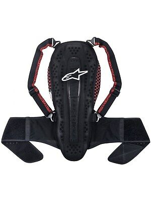 Alpinestars Smoke-Black-Red Nucleon KR-Cell Motorcycle Back Protector