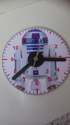 starwars r2 d2 cd clock