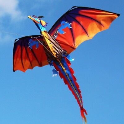 3D Dragon Kite With Tail Kites For Adult Kites Flying Outdoor 100m Kite Line New