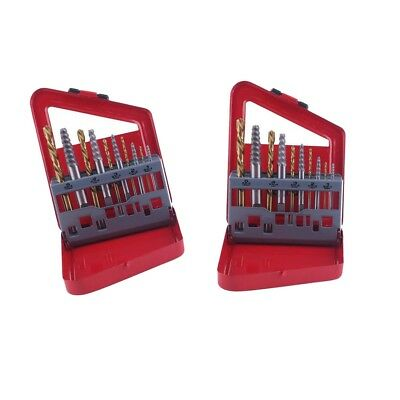 20x Screw Extractor Set Easy Out Drill Bits Guide Broken Screws Bolt Remover