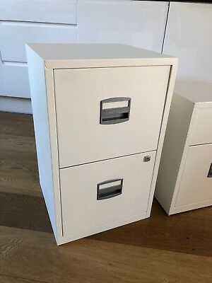 Bisley Filing Cabinet White (NEW used only for one day)