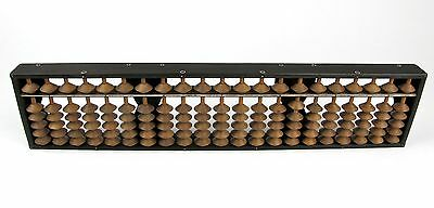 #1005 Japanese Vintage Soroban Counting Device Abacus Signed Wooden 21 Digits