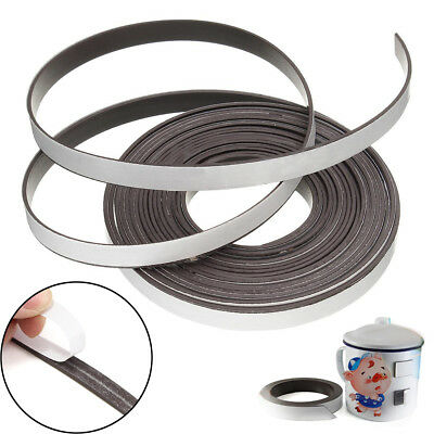 Self Adhesive Flexible Soft Rubber Magnetic Tape Magnet DIY Craft Strip 1m & 5m