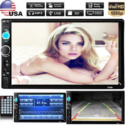 7'' HD Bluetooth Touch Screen Car Stereo Radio 2 DIN FM/MP5/MP3/USB/AUX Player X