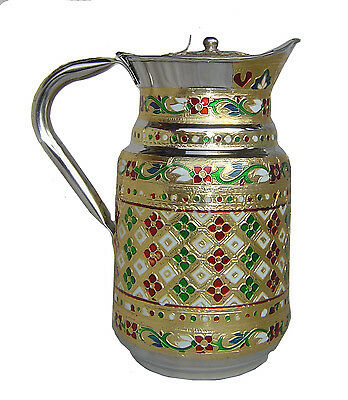 Jug Stainless Steel decorated Pitcher Juice water Cold drink coffee tea pitcher
