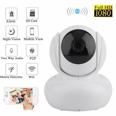 WiFi 1080p HD Outdoor Wireless CCTV Security Network IP Camera Night Vision MA