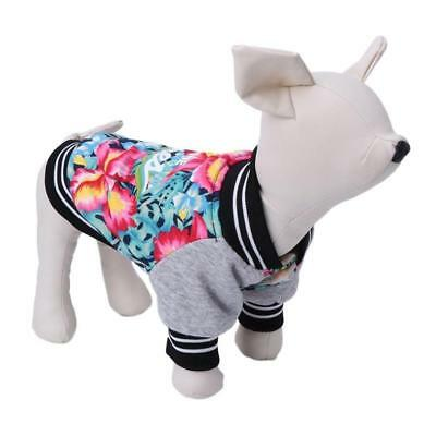 Pet Dog Clothes Jacket Coat Cats Flower Print Sweater Halloween Costume 2018.