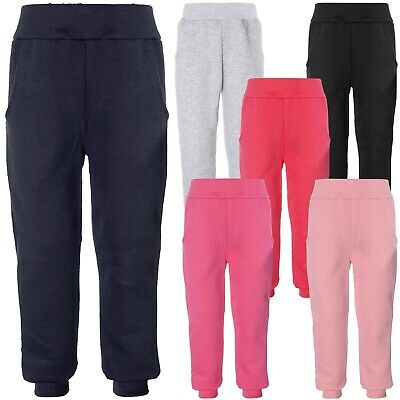 Mädchen Baggy Stoff Jogging Sport-Hose Trainings Freizeit Leggings Hosen 21705