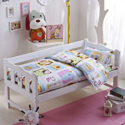 Animals Friend New Baby Bedding Crib Cot Set Quilt Cover Padded Cotton Nursery
