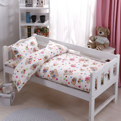 Bear Animal Floral Baby Bedding Crib Cot Set Quilt Cover Padded Cotton Nursery