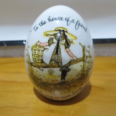 Holly Hobbie Egg Shape Trinket To the House Of A Friend