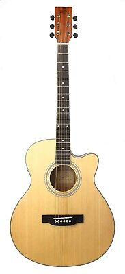Wild Boar Electro Steel String Cutaway Acoustic Natural Finish