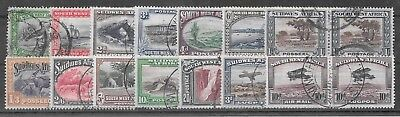 South West Africa 1931 Pictorial set of 14 very fine used